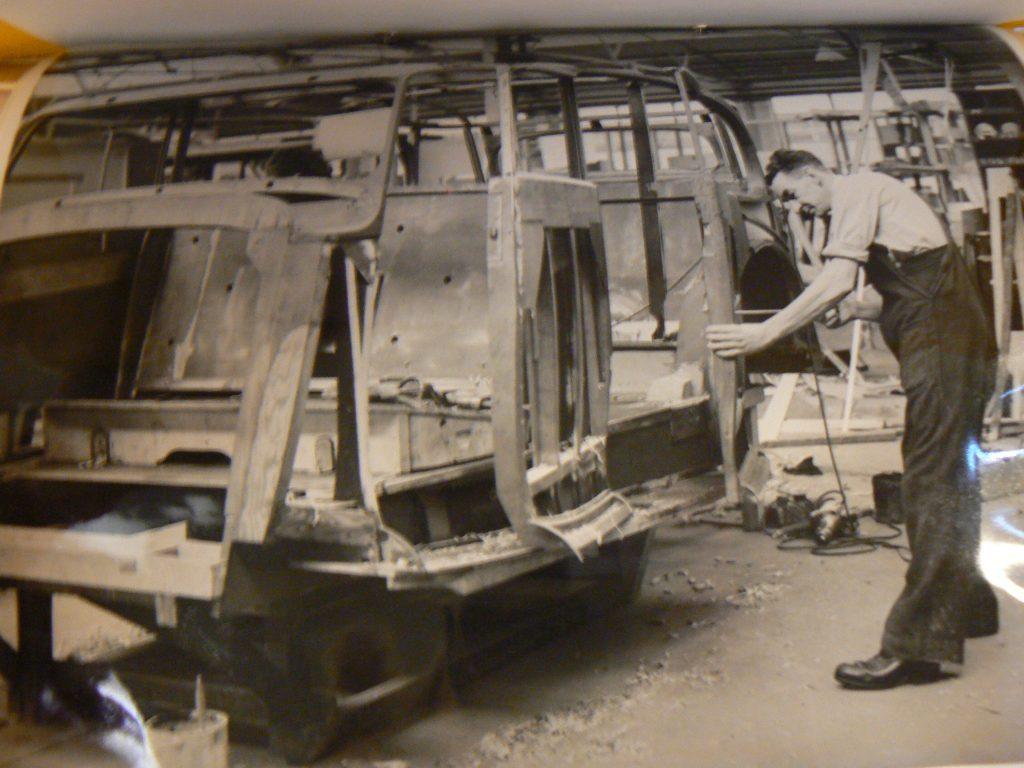 Daimler DE36hp car under construction